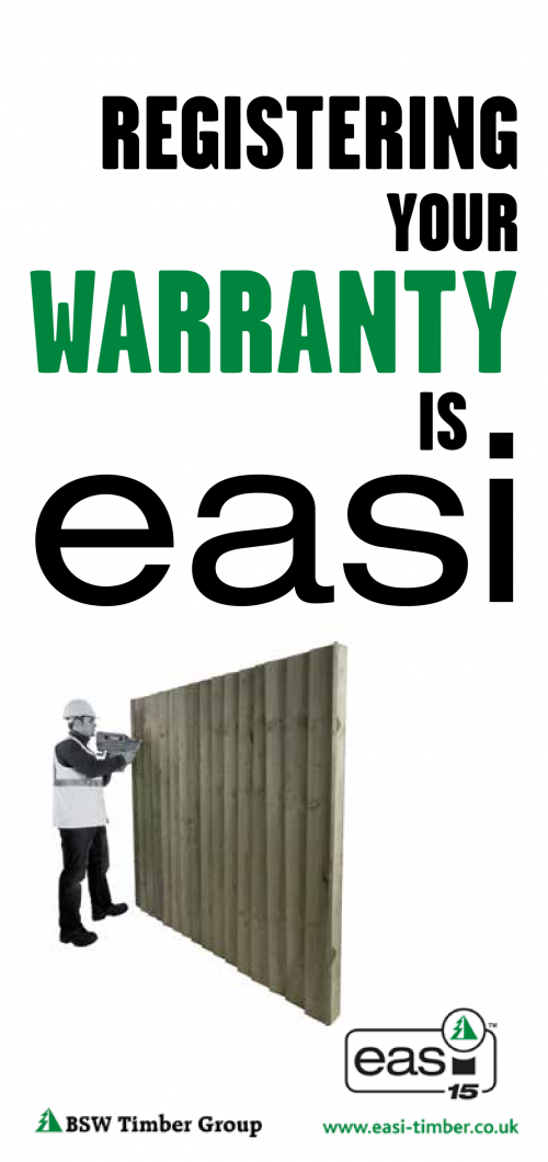 Warranty information - incised post and incised sleeper