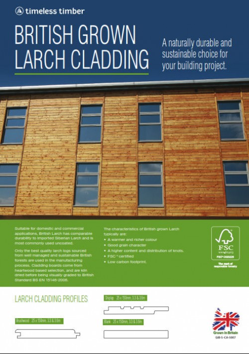 British timber cladding leaflet