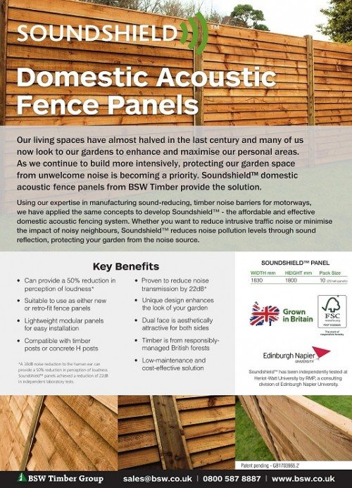 Domestic acoustic fencing flyer