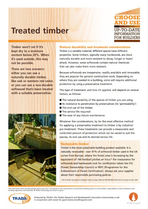 Treated timber guide