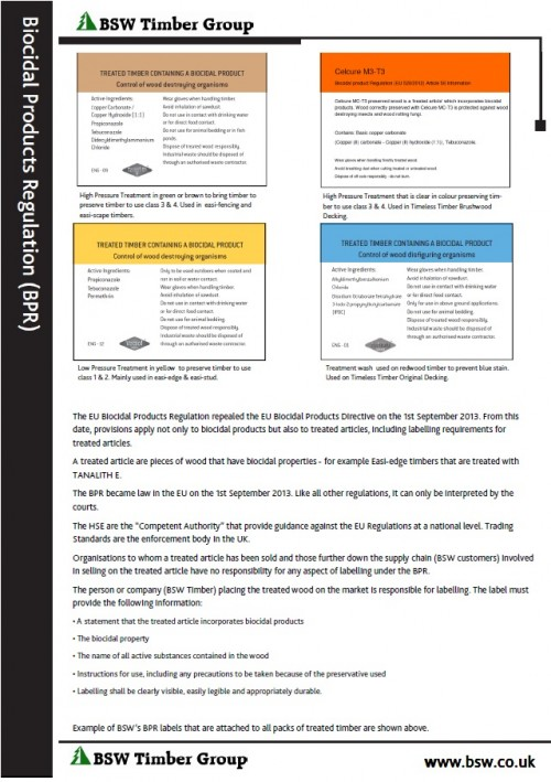 BPR information sheet