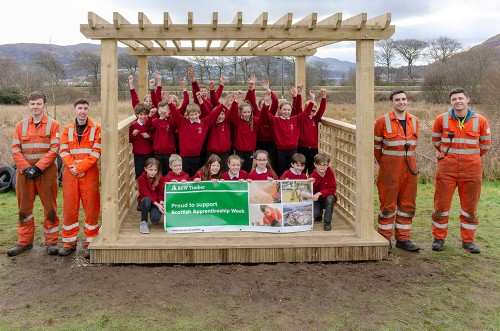 BSW apprentices showcase skills with school pergola build
