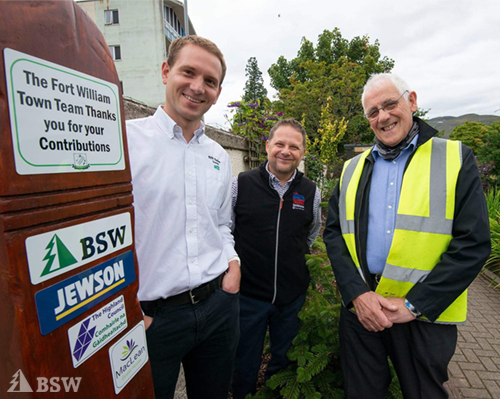 BSW supports 'Garden of Thanks' for NHS staff in Fort William