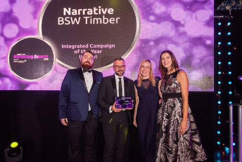 BSW's IRO Timber collaboration recognised at North East Marketing Awards