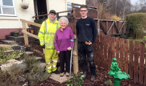BSW apprentices renovate gardens for the elderly