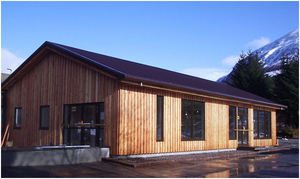 Larch Cladding Transforms Nevis Mountain Range Restaurant
